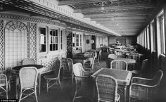 Cafe Parisien on board RMS Titanic, an extension to the First Class restaurant
