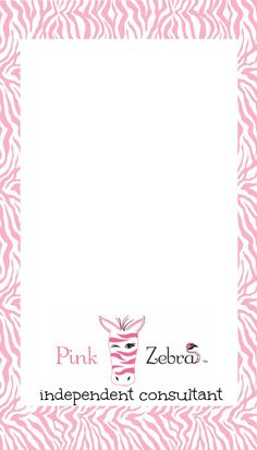 Free Pink Zebra Business Card Templates