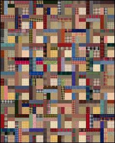 Easy Plaids Scrap Quilt Pattern. So dynamic. I love the colours.: