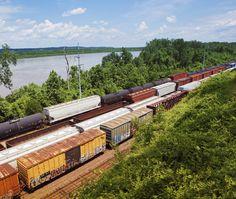 Freight trains passing through #Kansas