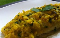 Baked Curried Snapper
