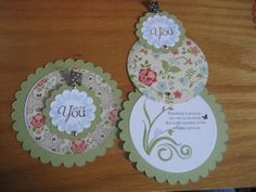 telescoping Stampin UP! cards