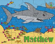 Our Love Shark Personalized Puzzle. $12.95