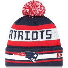 Men s New Era New England Patriots The Jake Knit Hat - NFLShop.com  Patriotas dbc6a266633