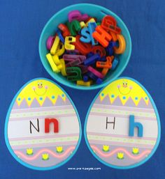 Egg Letters - Matching with Magnetic or Foam Letters