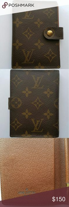 """Louis Vuitton Monogram PDA Case Reposh. Authentic Louis Vuitton Monogram PDA Case with gold-tone snap closure at front, slit pocket at interior gold-tone PDA tool. Good used condition  Height 5"""", Width 3.5"""", Depth .5"""" Louis Vuitton Other"""