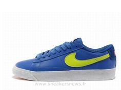 Nike Blazer Low Premium hommes en cuir Royal-Volt Blazer Homme Bleu Marine