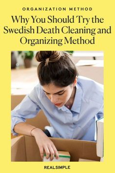 Why You Should Try the Swedish Death Cleaning Method to Organize Your Life | Learn all about the Swedish death cleaning and organization method to finally get your home decluttered, according to an RS editor who tested it herself. Plus, why this organization method is a great way to plan for the future while decluttering your home. #cleaningtips #cleanhouse #realsimple #stepbystepcleaning #cleaninghacks #cleaningguide Declutter Your Home, Organize Your Life, Laundry Hacks, Tidy Up, Real Simple, Decluttering, Getting Old, Clean House, Cleaning Hacks
