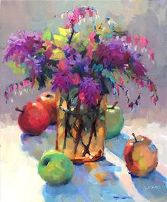 Hearts and Flowers by Trisha Adams Oil ~ 20 x 16