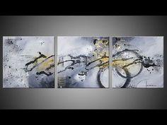 Abstract acrylic painting demo video - Réalisation d'un tableau - Ulex M...