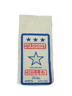 Canvas Lead Shot Bag Fabric Starshot Man Cave by EclecticEmbrace