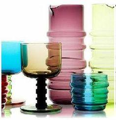 I Love colored glass! Marimekko/Anu Penttinen tablewear at Crate & Barrel Marimekko, Chicago Shopping, Bowl Designs, Lassi, Retro Color, Glass Ceramic, Design Lab, Glass Design, Scandinavian Design