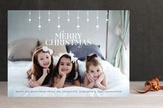 Starry Merry Christmas Holiday Photo Cards by curiouszhi design at minted.com