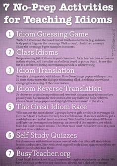 7 No-Prep Idiom Actvities