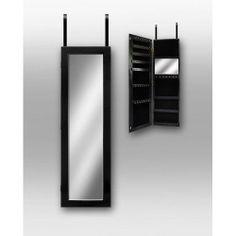 Dalton Home Collection Over the Door Jewlery Armoire in Black: Storage & Organization : Walmart.com