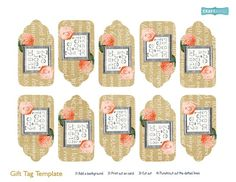 Gift tags for favours made with Daisy Trail Serif package. http://www.daisytrail.com/