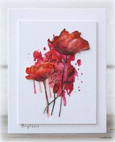 CAS295 Poppies by Biggan - Cards and Paper Crafts at Splitcoaststampers