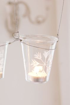 Hanging Glass Votive