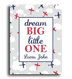 This 'Dream Big' Airplane Personalized Print is perfect! Diy Baby Gifts, Personalized Baby Gifts, Newborn Baby Gifts, Baby Shower Gifts, Nursery Decor Boy, Girl Nursery, Girl Room, Girls Bedroom, Nursery Ideas