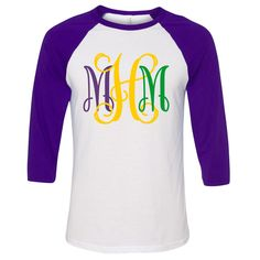54a3083d These monogrammed and personalized Mardi Gras baseball tees are a best  seller!