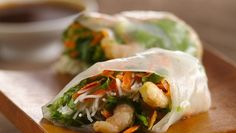 Shrimp Summer Rolls with Dipping Sauce under150 shrimp