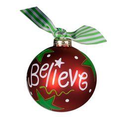 Christmas Ball Ornaments   ... > Palmetto Holiday Accessories > Believe Christmas Ball Ornament