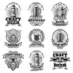 Retro beer pub vector emblems. Vintage traditional brewing labels royalty-free retro beer pub vector emblems vintage traditional brewing labels stock vector art & more images of beer - alcohol