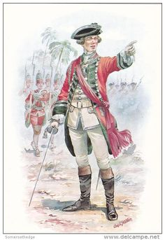 Officer 37th Regiment of Foot India 1757