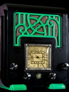 A Sydney dentist's 30-piece art deco radio collection sparks an offer from the Sheik of Qatar. Among the collection's pieces is this AWA Fret and Foot radio. Photo: Peter Sheridan