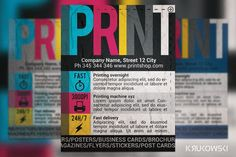 Check out Print Shop Flyer by Krukowski on Creative Market