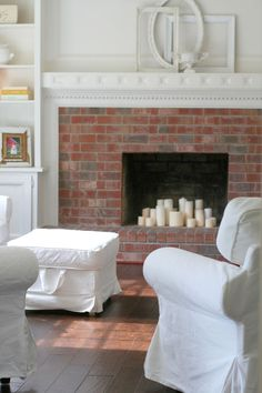 Candles In A Fireplace how to decorate an empty fireplace: candles | there's no place