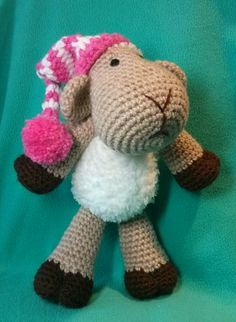 Chloe the Sheep - crocheted sheep, pattern by 'One and Two Company'
