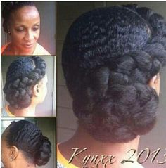Natural hair style #protectivestyle