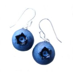 Blueberry Earrings ($20) ❤ liked on Polyvore featuring jewelry, earrings, earring jewelry, 14 karat gold charms, earring charms, 14k earrings and 14k jewelry