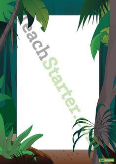 Rainforest Page Border | Teaching Resources - Teach Starter