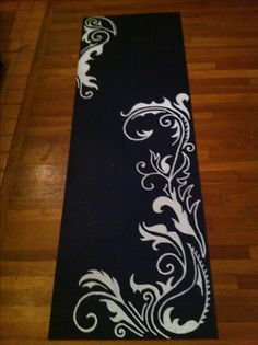 Hand painted yoga mats... could be done for a table runner.... so, so beautiful!