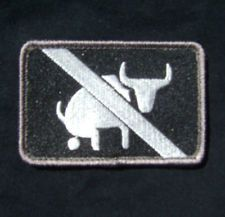 I TAKE NO BULLSHIT ARMY MORALE TACTICAL MILSPEC USA ISAF OPS SWAT VELCRO PATCH