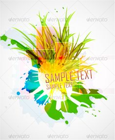 Realistic Graphic DOWNLOAD (.ai, .psd) :: http://sourcecodes.pro/pinterest-itmid-1000127262i.html ... Floral abstract background ...  abstract, background, banner, design, environment, floral, grass, green, grunge, illustration, plant, vector  ... Realistic Photo Graphic Print Obejct Business Web Elements Illustration Design Templates ... DOWNLOAD :: http://sourcecodes.pro/pinterest-itmid-1000127262i.html