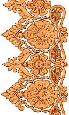 Now you can enjoy our Premium Range Embroidery Designs of Lace Border Embroidery Designs, Machine Embroidery Patterns, Hand Embroidery Flowers, Beaded Embroidery, Doodle Frames, Embroidery Fashion, Stencil Designs, Border Design, Textile Design