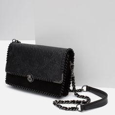 Image 4 of LEATHER DETAILS MESSENGER BAG from Zara