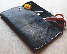 Simple leather pencil case