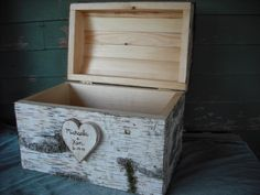 Handmade Birch Bark Treasure Chest or card box, made with New Hampshire bark, for a rustic, nature, fairytail, woodland, outdoor weddings.. $129.00, via Etsy.