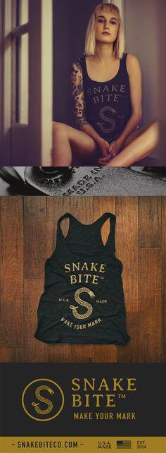 Snake Bite Brand Ladies Tank - American Apparel - 100% Made in the USA   Snake Bite Co.