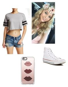 Loren Beech by alexxx-m on Polyvore featuring polyvore fashion style Wyldehart Converse Casetify clothing pretty bae goals