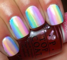 Nails by an OPI Addict: Watercolor Stripes!