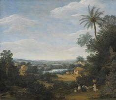 Frans Jansz. Post BRAZILIAN LANDSCAPE WITH LABORERS, AN ARMADILLO AND A TAMANDUA 1,500,000 — 2,000,000 USD