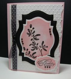 Black and pink birthday card