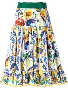 a300c040a8 DOLCE & GABBANA Majolica Print Pleated Skirt. #dolcegabbana #cloth # skirt High