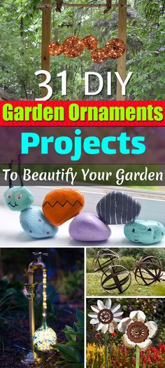 Make your garden more beautiful by following these 31 DIY Garden Ornaments Projects with tutorials.
