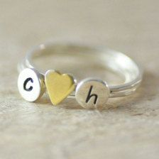 Personalized in Rings - Etsy Jewelry. this would be cute for me and my boyfriend